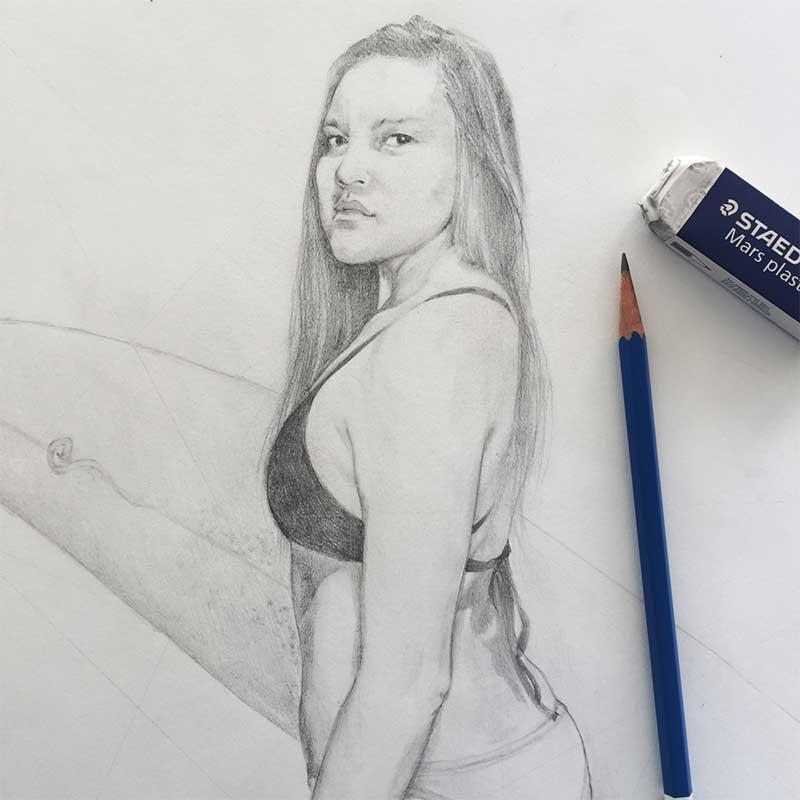 Sketch of Vivienne